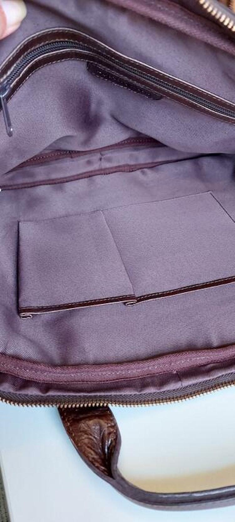 Portfölj Datorväska skinn brun Springfield 135