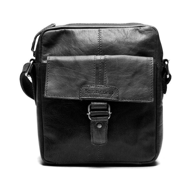 Unisex väska svart skinn 160