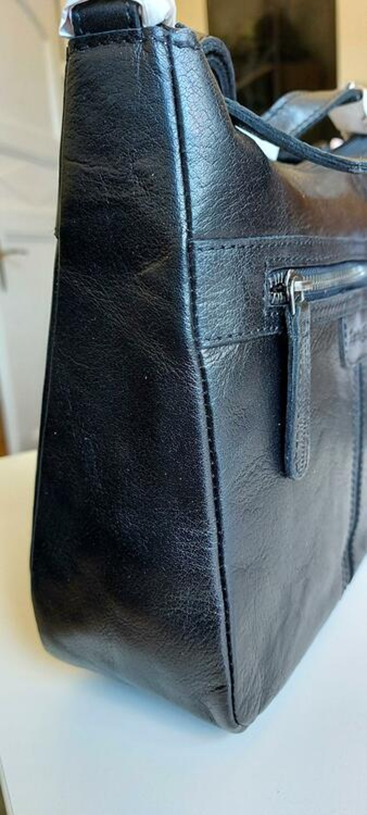 Läderväska svart skinn Springfield 185
