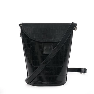 Axelväska Svart Croco Bottle Bag, Ceannis