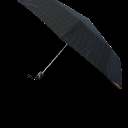 Paraply hopfällbart svart/grå rutigt 161-L