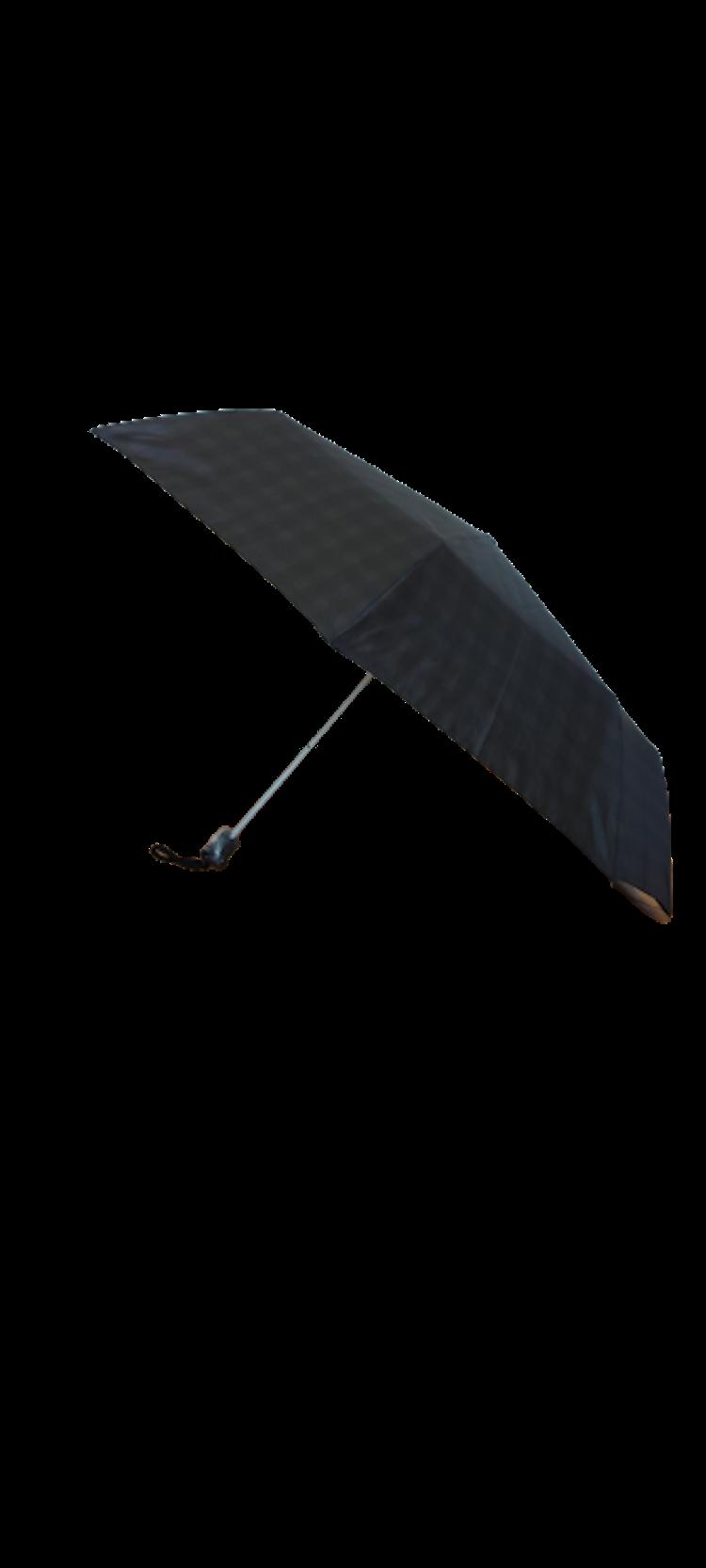 Paraply hopfällbart grå rutigt 161-L