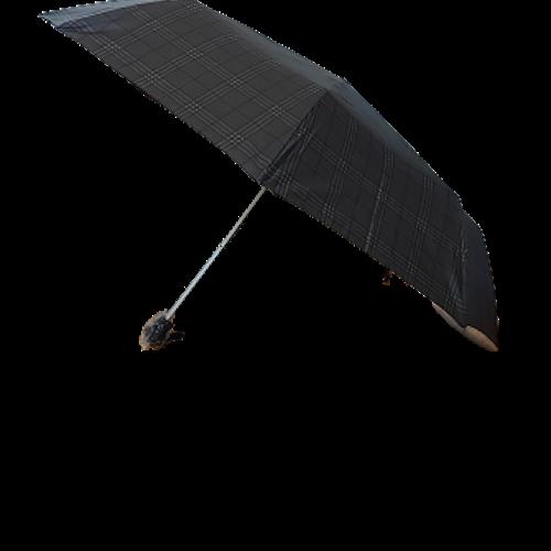 Paraply hopfällbart svart/grå rutigt 161-S