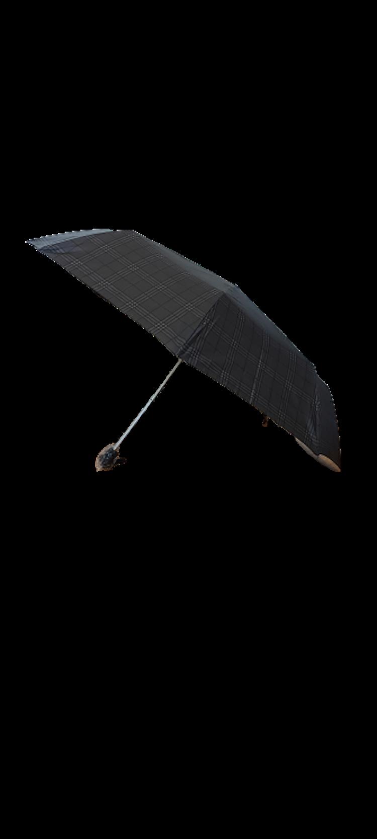 Paraply hopfällbart svart rutigt 161-S