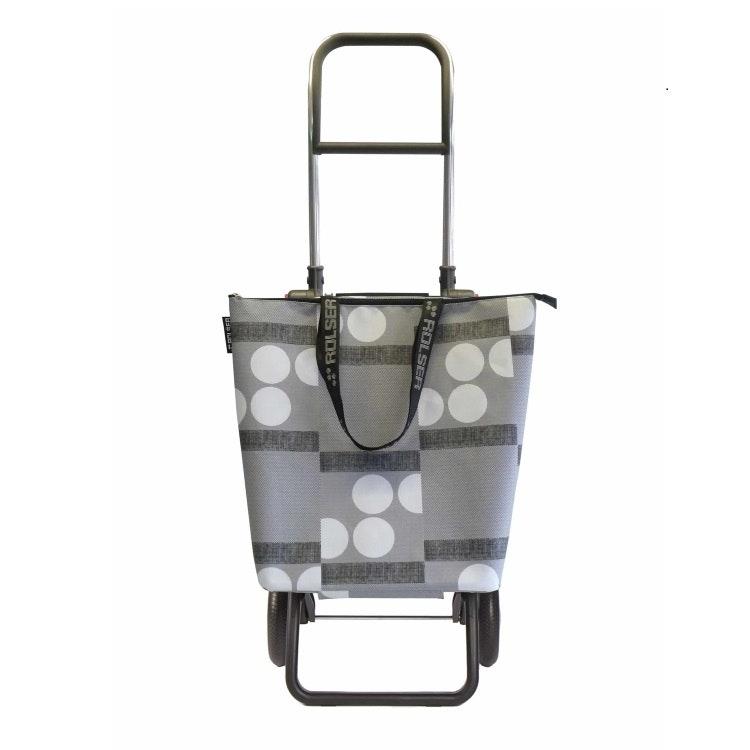 Shoppingkärra  2 hjul hopfällbar Minibag Logos Grå