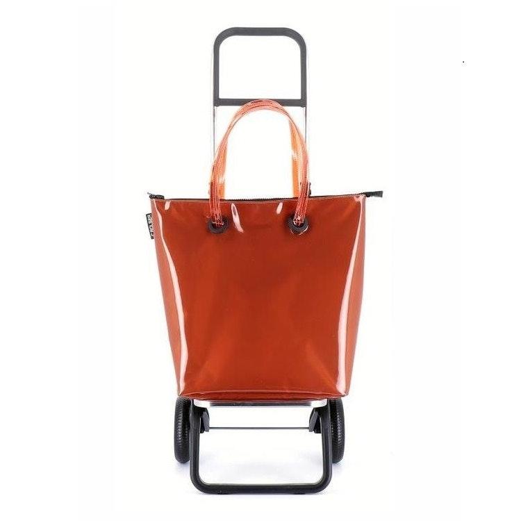 Shoppingkärra 2 hjul Minibag Orange vikbar med