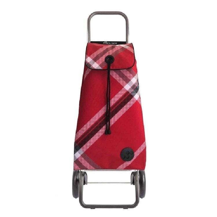 Shoppingvagn Rolser RG Logic  Rutig Bora röd
