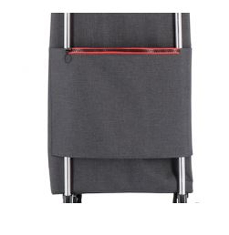 Dramatenväska på 2 hjul hopfällbar väska med dragkedja grå