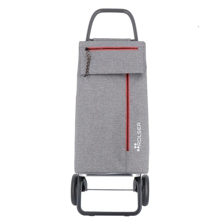 Shoppingvagn Rolser 2L Wallaby grå med dragkedja
