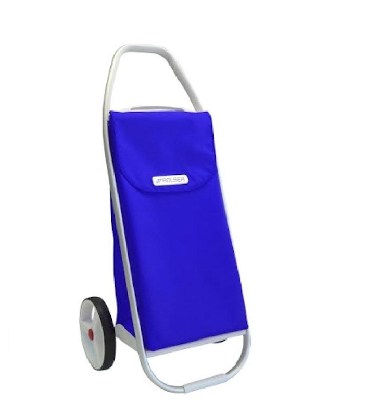 Dramaten väska extra stora hjul Shoppingvagn blå