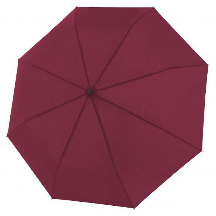 Hopfällbart Stormsäkert vinrött paraply från Doppler
