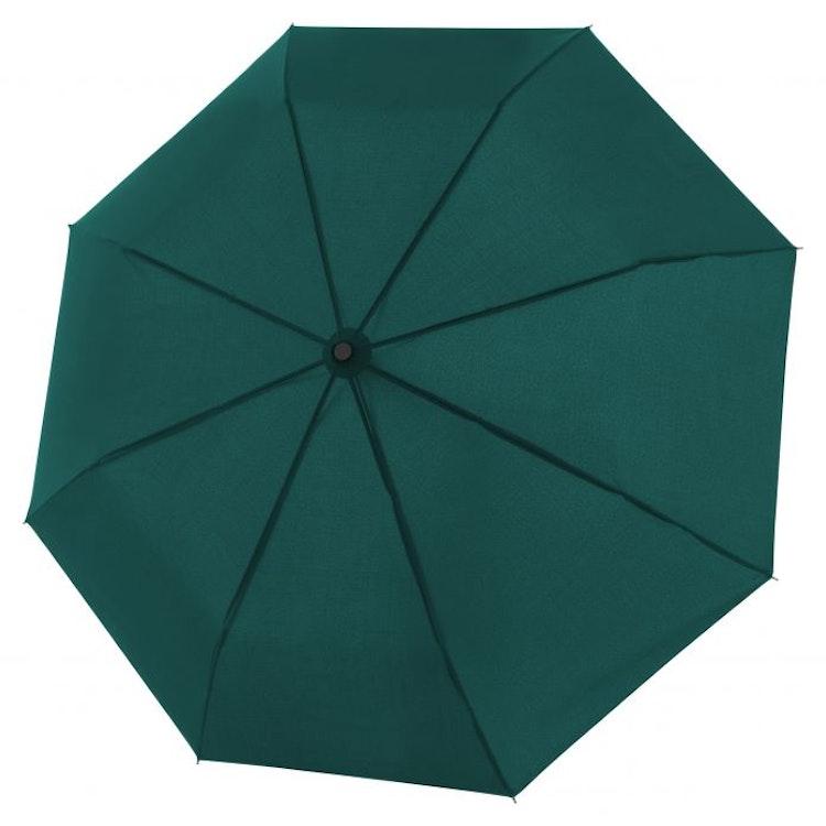 Hopfällbart Stormsäkert mörkgrönt paraply från Doppler