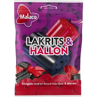 Malaco Lakrits&hallon 70g