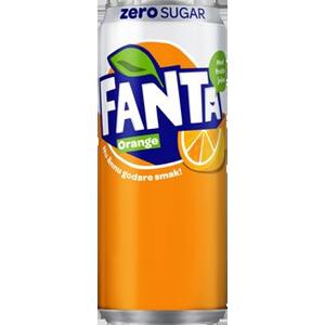 Fanta Zero Orange Sleek Can 33
