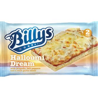 Billys pan pizza halloumi drea