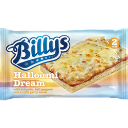 Billys pan pizza halloumi drea