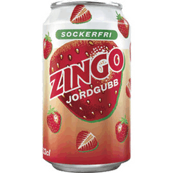 Zingo Jordgubbe sockerfri 33cl