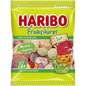 Haribo Fruktfilurer Sur 75g