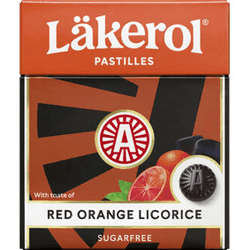Läkerol Red orange licorice