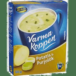 Varma koppen Potatis&Purjolök