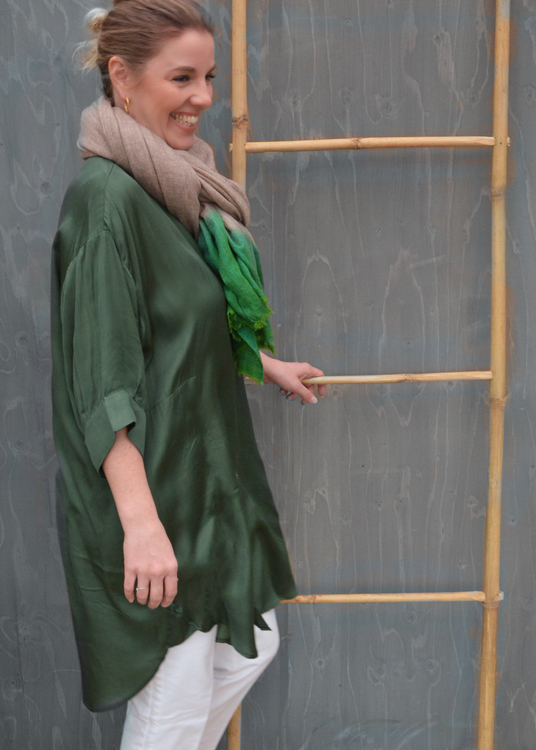 Limo Blouse Green