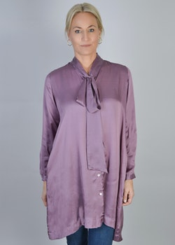 Tyra Bow Tie Blouse Lilac