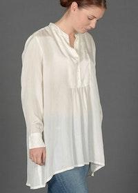 Anna Silk Blouse White