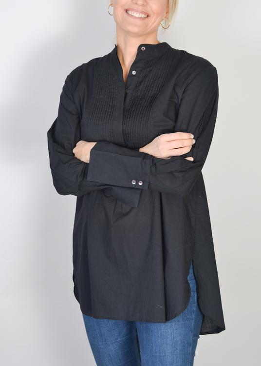 Tux Blouse Black