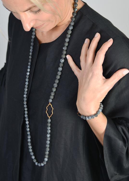 Mossa Black Labradorite Necklace
