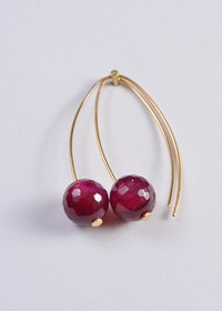 Mossa Hanging Earring Agate