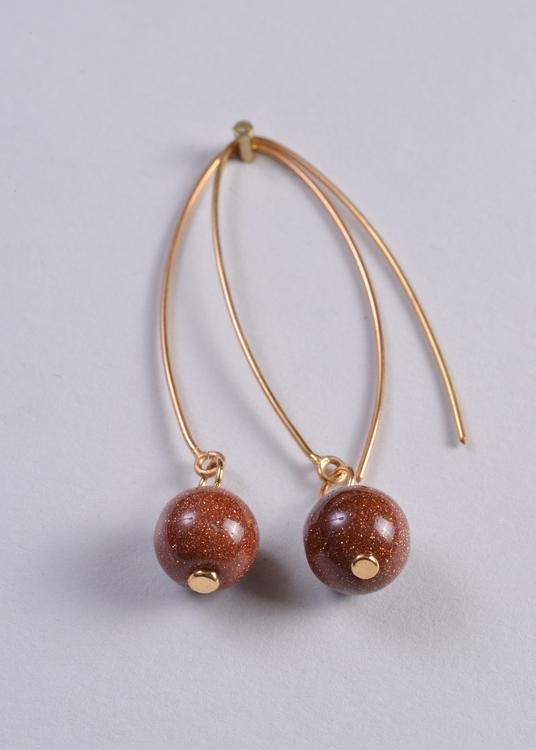 Mossa Hanging Earring Sun Stone