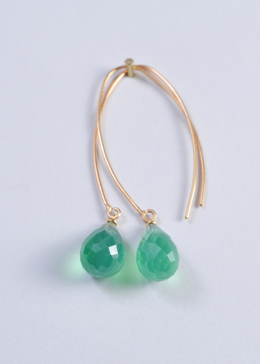 Mossa Hanging Earring Green Onyx