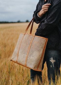 Ini Cane Tote Bag Tan