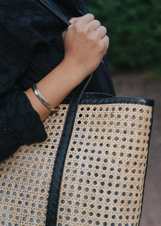 Ini Cane Tote Bag Black
