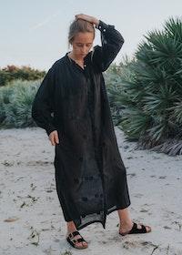 Jutta Dress Black Dotted