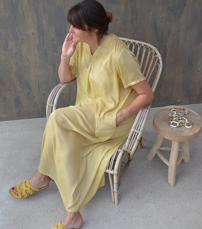 Alice Dress Soft Yellow