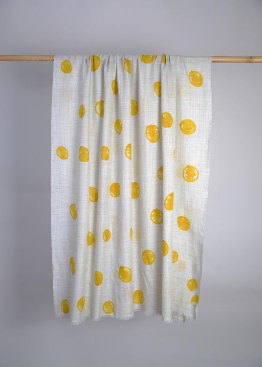 Wool Wrap Yellow Dots