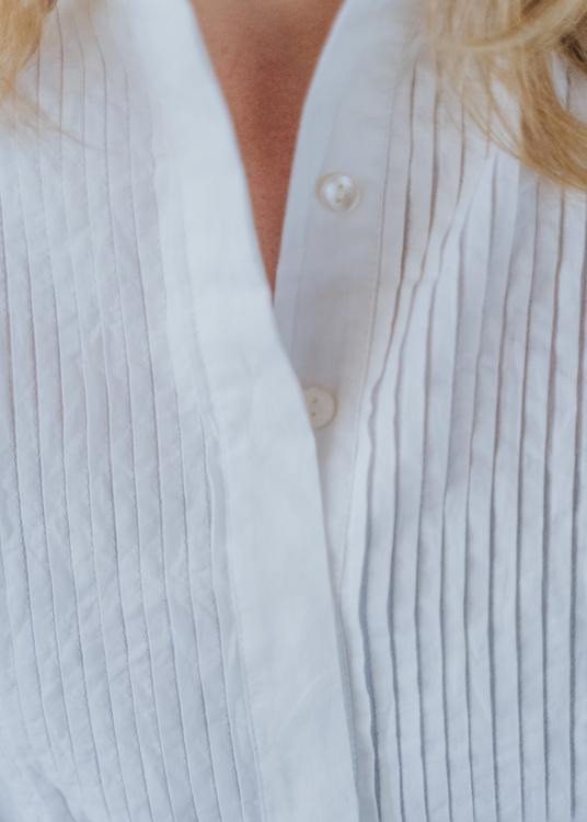 Tux Blouse White