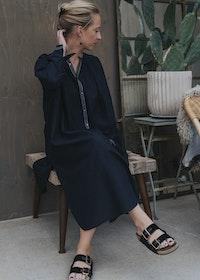 Tina Dress BlueBlack