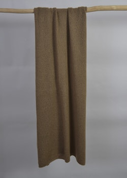 Knitted handcrafted Cashmere wrap Brown