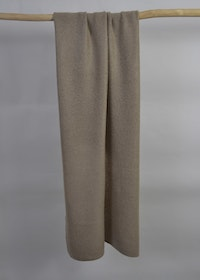 Knitted handcrafted Cashmere wrap Beige