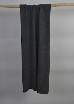 Knitted handcrafted Cashmere wrap Charcoal