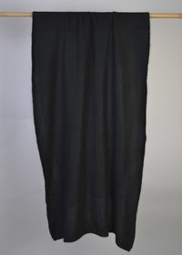 Knitted handcrafted Cashmere wrap Black