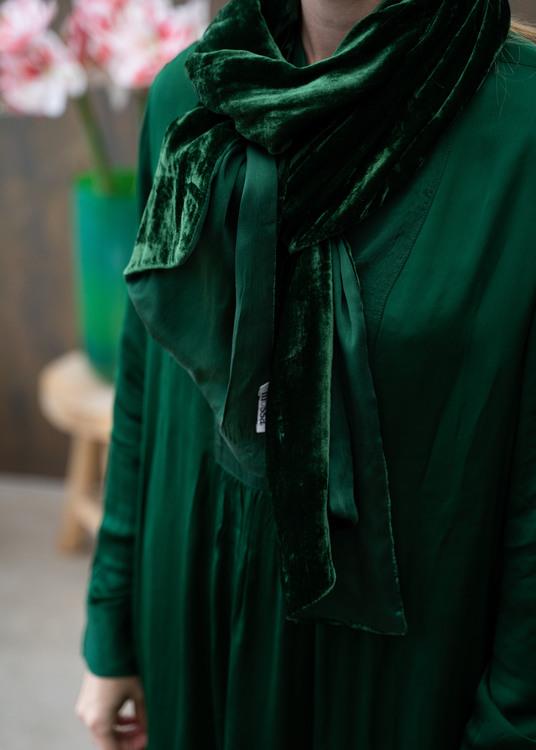 Shawl Velvet Bambo Green