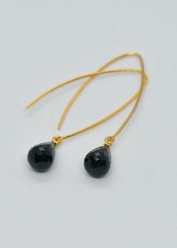 Mossa Hanging Earring Black Onyx Drop
