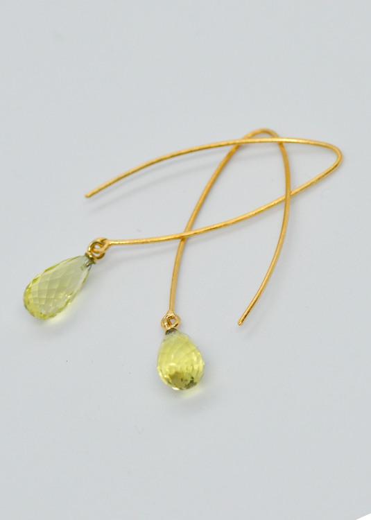 Mossa Hanging Earring Lemon Topaz