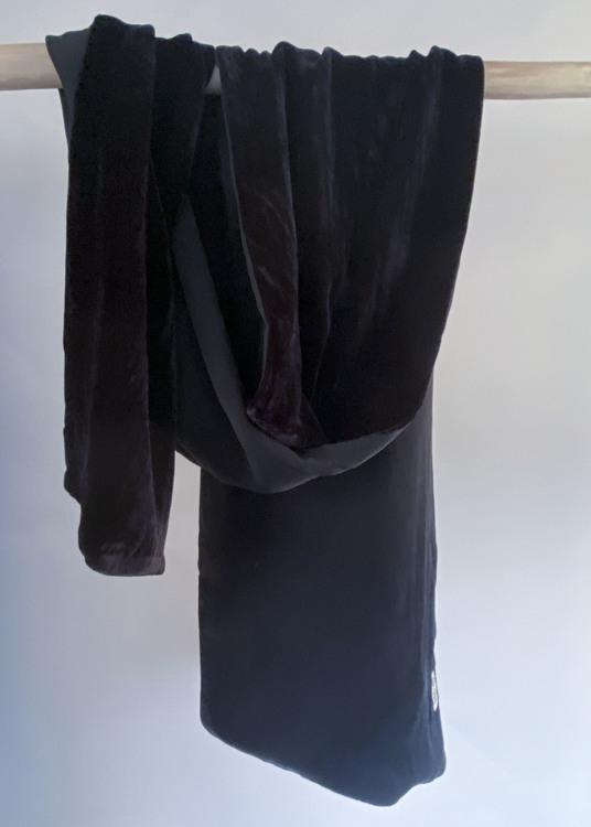 Shawl Velvet Bambo Black