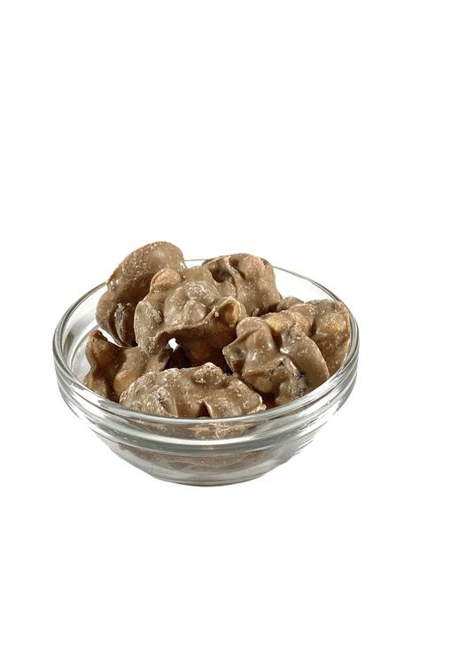 """Karamelliserad vit choklad med bitar av """"äppelpaj"""""""