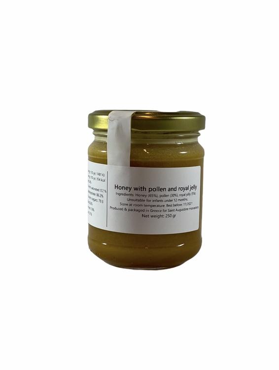 Honung med bidrottning gele och bipollen