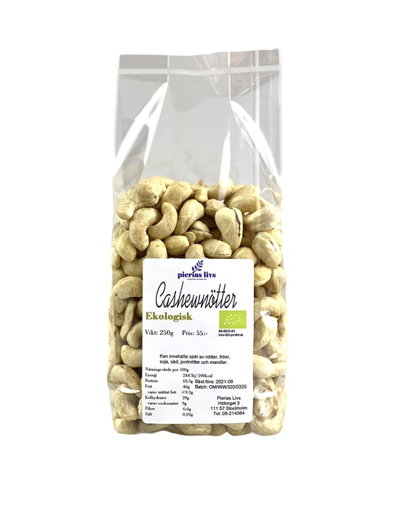 Cashewnötter naturella Ekologiska 250g